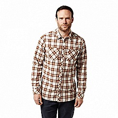 Craghoppers - Orange 'Andreas' long sleeved check shirt