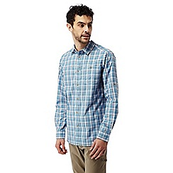 Craghoppers - Smoke blue combo Brentwood long sleeved check shirt