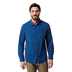 Craghoppers - Deep blue Nosilife tatton long sleeved shirt