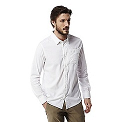 Craghoppers - Optic white Nosilife tatton long sleeved shirt