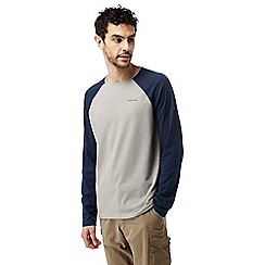 Craghoppers - Grey and night blue Nosilife bayame long sleeved t-shirt
