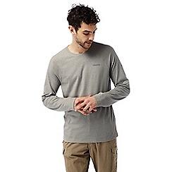 Craghoppers - Soft grey marl Nosilife bayame long sleeved t-shirt
