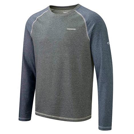 Craghoppers - Quarry grey marl nosilife bayame long sleeved t shirt