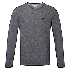 Craghoppers - Black pepper marl nosilife long sleeved base t shirt