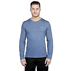 Craghoppers - Faded indigo marl nosilife long-sleeved base t-shirt