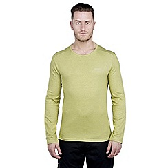 Craghoppers - Palm green marl nosilife long-sleeved base t-shirt