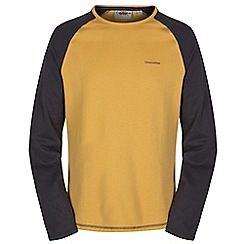 Craghoppers - Mustard/blkp ruston long sleeved t-shirt