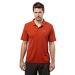 Craghoppers - Burnt orange nemla insect repelling short sleeved polo