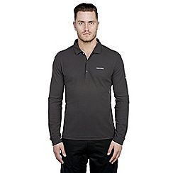 Craghoppers - Black pepper nosilife nemla long-sleeved polo shirt