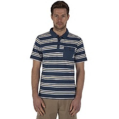 Craghoppers - Denim blue combo bosadi short-sleeved polo shirt