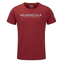 Bear Grylls - Bear red bear mountain range graphic t-shirt
