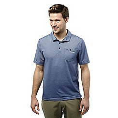 Craghoppers - Dusk blue marl nosilife gilles short-sleeved polo