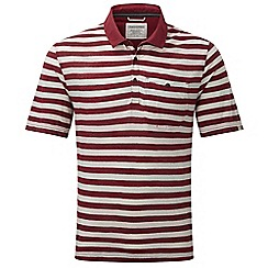 Craghoppers - Brick red/grey fraser short sleeved polo