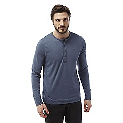 Craghoppers - Indigo marl Fermont long sleeved henley shirt