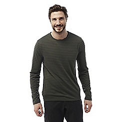 Craghoppers - Dark khaki Bentley long sleeved t-shirt