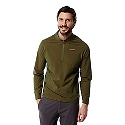 Craghoppers - Dark moss Nosilife active long sleeved half zip