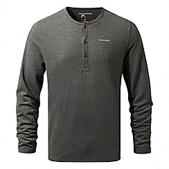 Craghoppers - Black pepper marl Nosilife newark long sleeved henley shirt