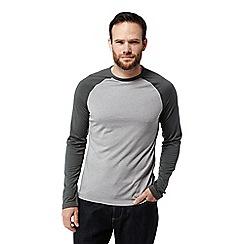 Craghoppers - Grey 'Loki' long sleeved two tone t-shirt