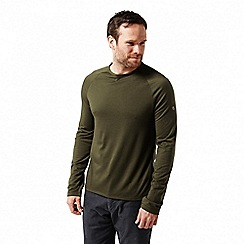 Craghoppers - Green 'Loki' long sleeved two tone t-shirt