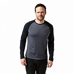 Craghoppers - Blue 'Loki' long sleeved two tone t-shirt