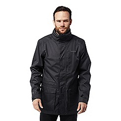 Craghoppers - Black 'Kiwi' long interactive waterproof jacket