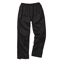 Craghoppers - Black travelite overtrousers - regular leg length