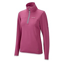 Craghoppers - Deep raspberry ionic half zip fleece