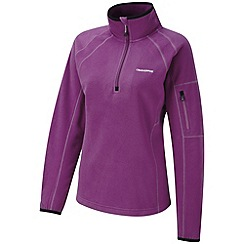 Craghoppers - Bright magenta inessa half-zip fleece