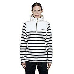 Craghoppers - Off white/navy rozina half zip fleece