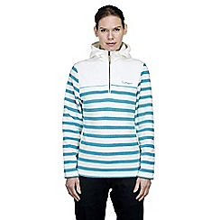 Craghoppers - Off white/lagoon rozina half zip fleece