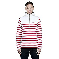 Craghoppers - Off white/lipstick rozina half zip fleece