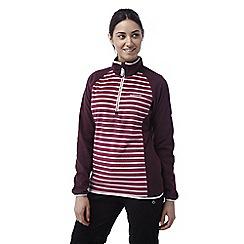 Craghoppers - Raspberry Tille lightweight half zip striped fleece