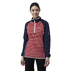 Craghoppers - Fiesta red Tille lightweight half zip striped fleece