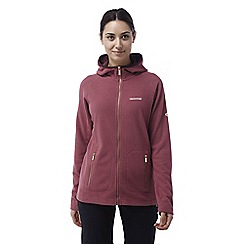 Craghoppers - Rosehip pink Hazelton lightweight hooded fleece jacket