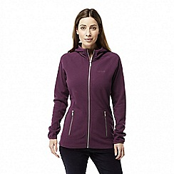 Craghoppers - Red 'Hazelton' hooded fleece jacket