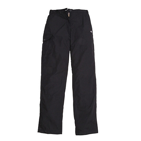 Craghoppers - Black Basecamp winterlined trousers