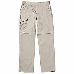 Craghoppers - Mushroom nosilife convertible trousers - regular leg length