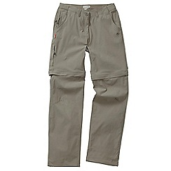 Craghoppers - Mushroom nosilife stretch convertible trousers - regular