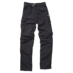 Craghoppers - Black kiwi convertible trousers