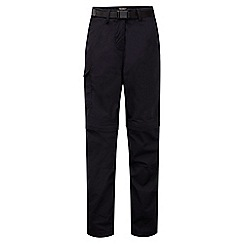 Craghoppers - Dark navy kiwi convertible trousers - short leg length