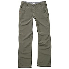 Craghoppers - Olive drab nosilife amrita trousers - regular leg length