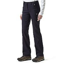 Craghoppers - Dark navy Kiwi pro walking trousers - long length