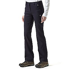 Craghoppers - Dark navy Kiwi pro walking trousers - regular length