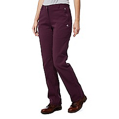 Craghoppers - Red 'Kiwi' pro stretch long length trousers