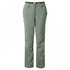 Craghoppers - Soft moss Nosilife trousers - long length