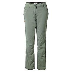 Craghoppers - Soft moss Nosilife trousers - regular length