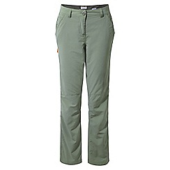 Craghoppers - Soft moss Nosilife trousers - short length