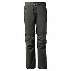 Craghoppers - Charcoal C65 convertible trousers - long length