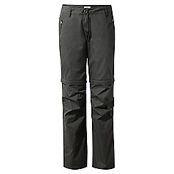 Craghoppers - Charcoal C65 convertible trousers - short length