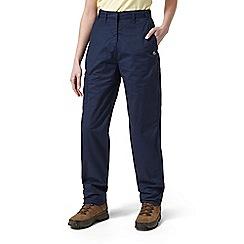 Craghoppers - Soft navy classic kiwi trousers - short length